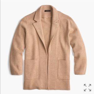 NWOT JCrew open front sweater blazer